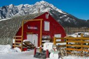 Check in for your sleigh ride at Warner Stables