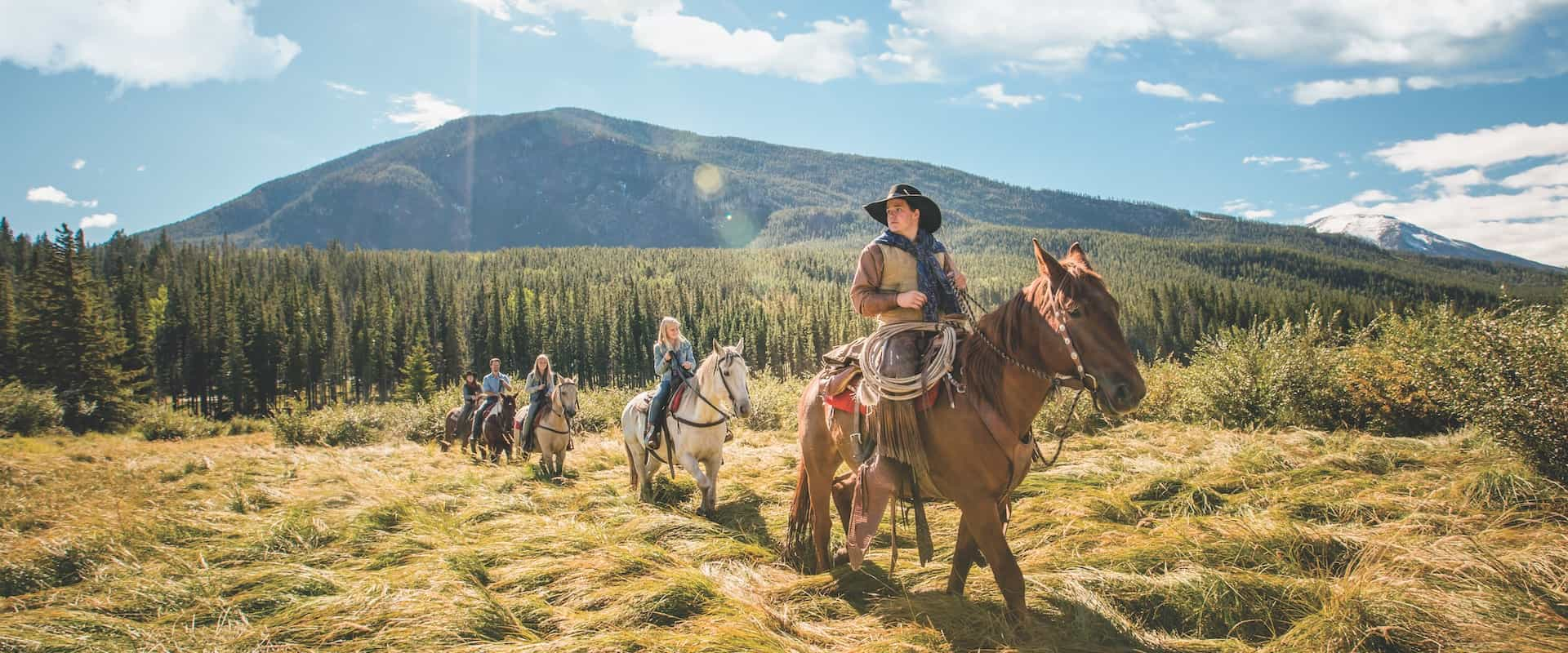 Horseback Ride to a Cowboy Steak Cookout with Banff Trail Riders