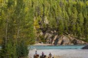 Cross the Spray River on a horseback ride