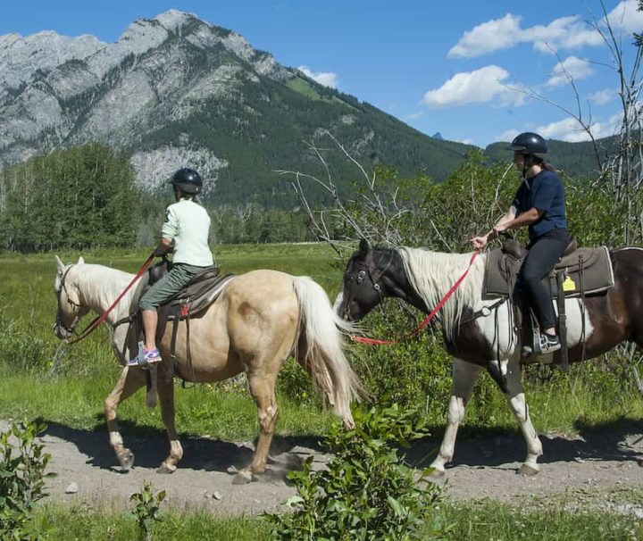 Explore Banff on the Bow River horseback ride with Banff Trail Riders in the Canadian Rockies
