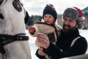 Family Banff sleigh ride with Banff Trail Riders