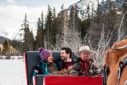Private winter sleigh ride with Banff Trail Riders