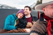 Romantic private sleigh ride with Banff Trail Riders