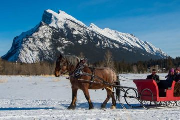 See iconic mountains on a cozy private sleigh ride for two