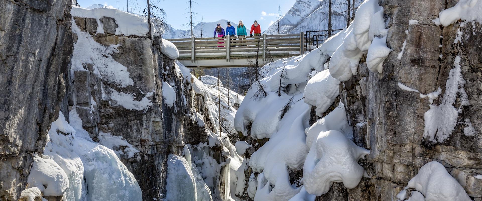 Snowshoeing Banff, Canadian Rockies