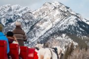 Winter sleigh ride views with Banff Trail Riders