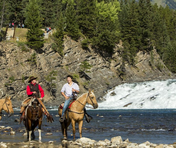 Horseback Ride Spray River Banff Trail Riders