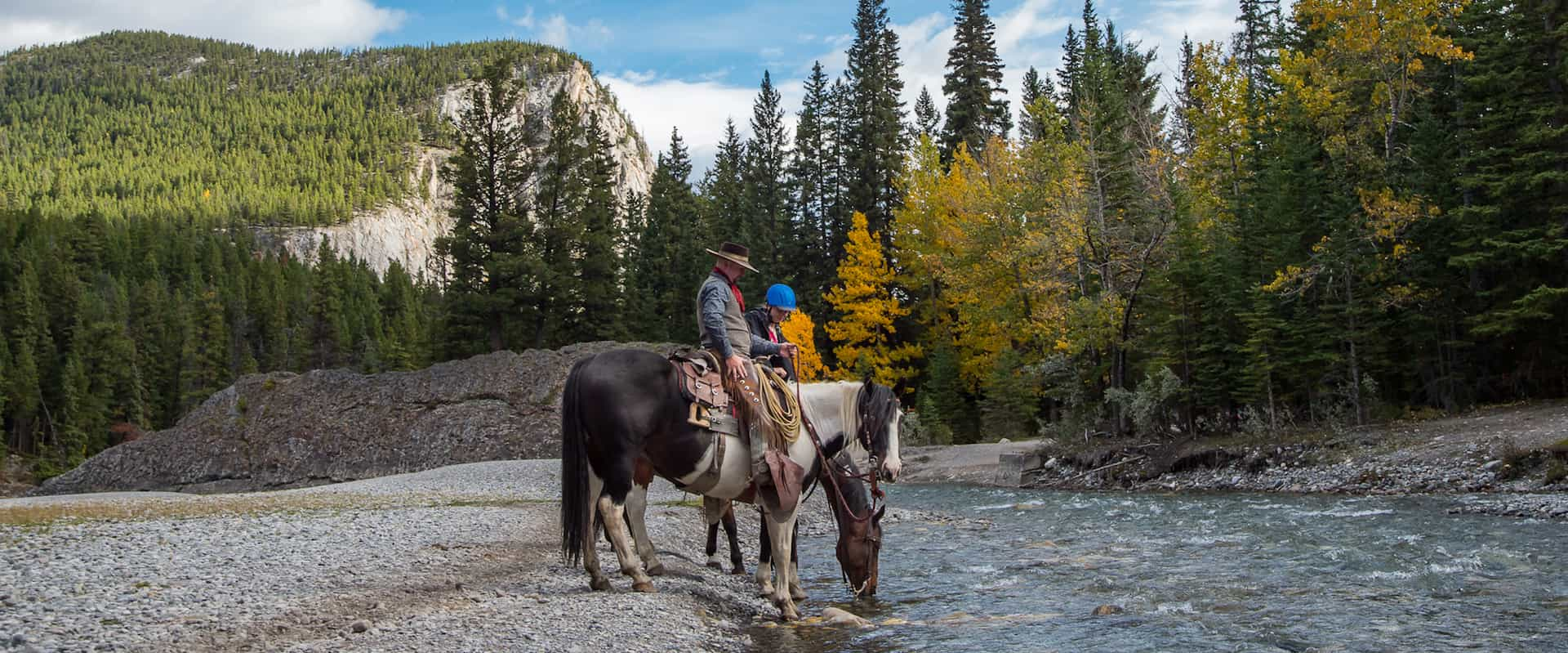 Horseback ride along the Spray River with Banff Trail Riders