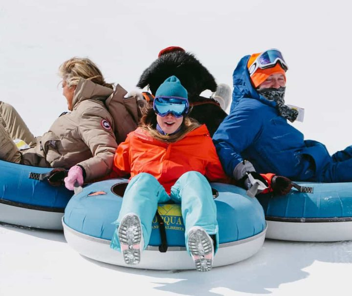 Try tubing at Mt Norquay