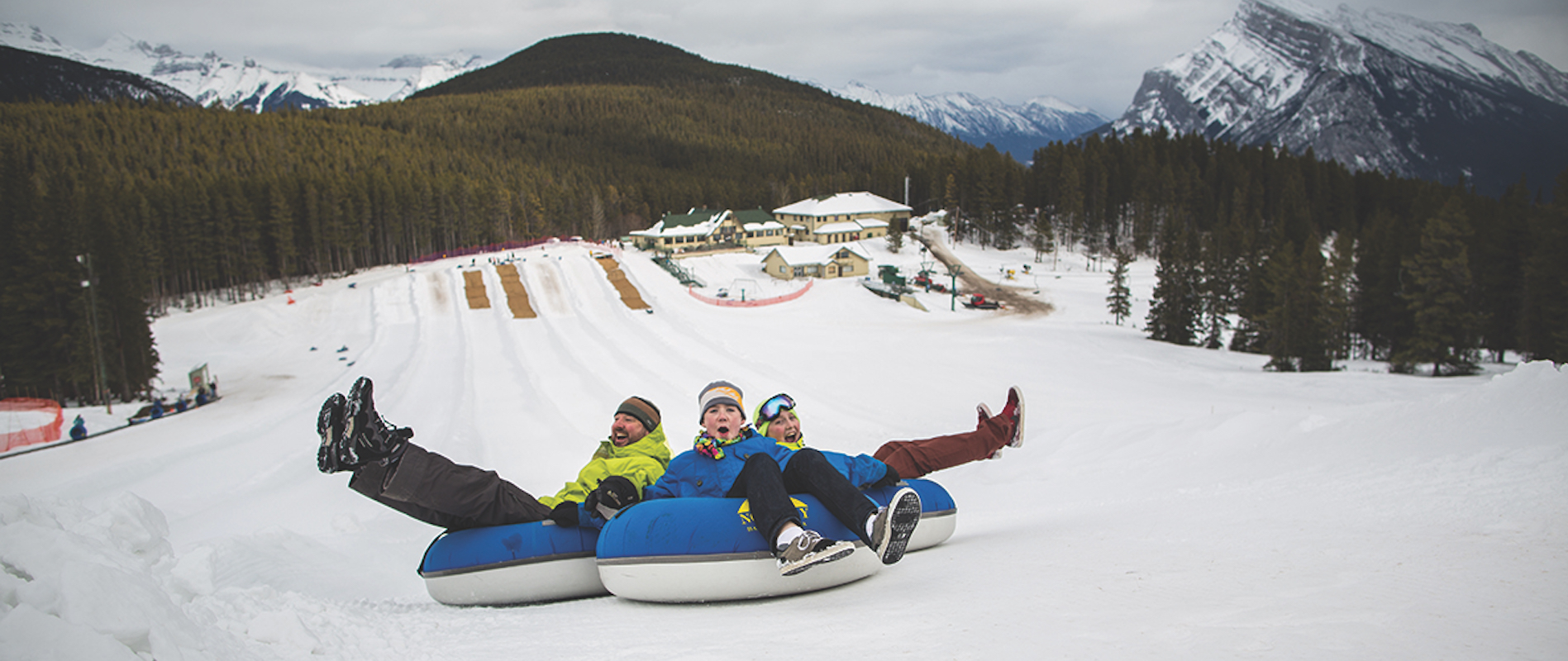 Tubing at Mt Norquay in Banff, Canadian Rockies