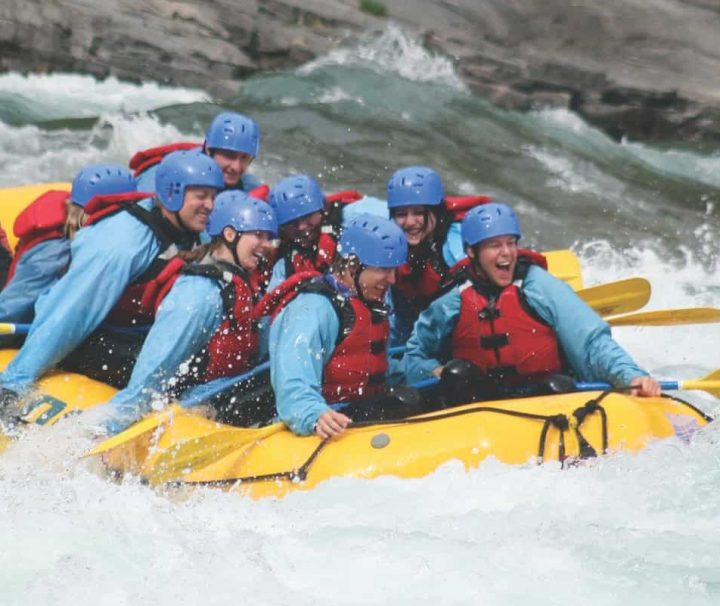 Horseshoe Canyon Whitewater Rafting in the Canadian Rockies