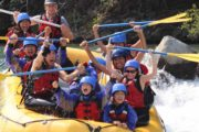 Family day out with the children on the Kananaskis River