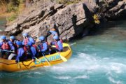 Family friendly rapids fun on the Kananaskis River