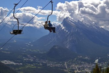 Mount Norquay Sightseeing Chairlift in Banff, Canadian Rockies