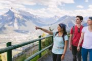 See views over the Bow Valley on the Mount Norquay Banff Sightseeing Chairlift