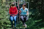 The open-air chairlift at Mount Norquay are very safe