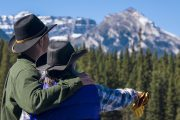 Admiring the View on the Sundance Overnight Backcountry Lodge Trip in Banff, Canadian Rockies with Banff Trail Riders