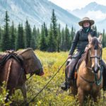 Backcountry ride back to Sundance Lodge in the Canadian Rockies