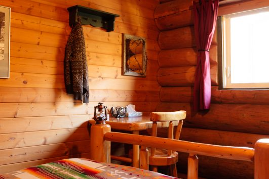 Bedroom at Backcountry Sundance Lodge in Banff, Canadian Rockies