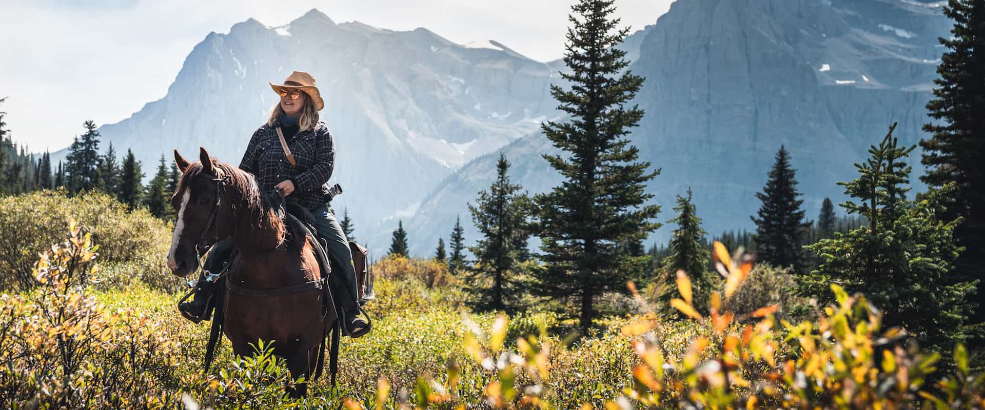 Return to Halfway Lodge from Allenby Pass with Banff Trail Riders in the Canadian Rockies