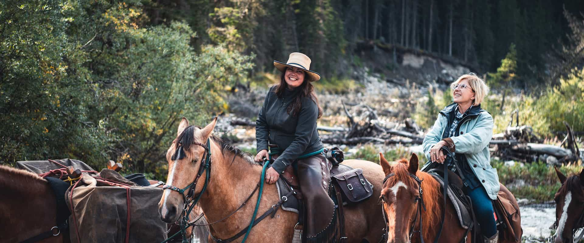 Ride into Banff's backcountry on a horseback vacation