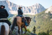Ride to Allenby Pass on a backcountry vacation with Banff Trail Riders in the Canadian Rockies