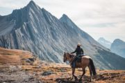 Ride to the summit of Allenby Pass with Banff Trail Riders in the Canadian Rockies