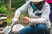 Your friendly guide will prepare delicious lunches on a backcountry vacation with Banff Trail Riders