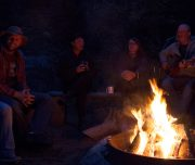 Campfire at Sundance Lodge in Banff, Canadian Rockies