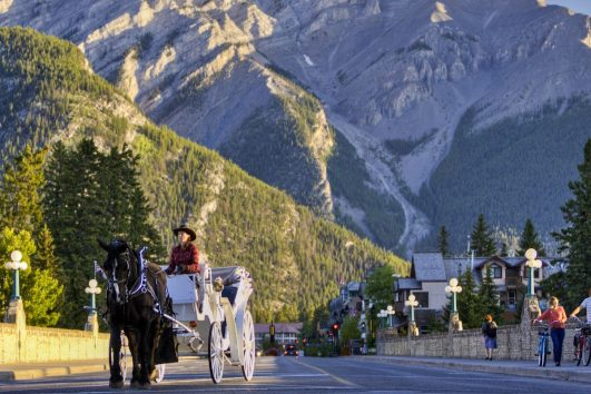 Carriage Rides Through the Town of Banff with Banff Trail Riders