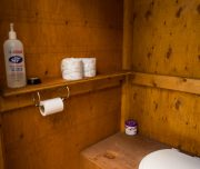 Clean Outhouse at the Stoney Creek Campsite in Banff, Canadian Rockies