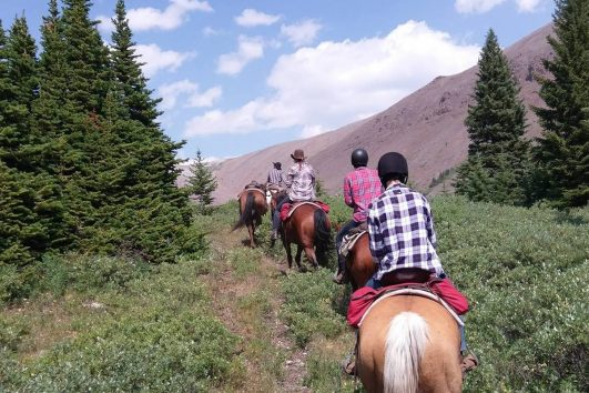 Day Ride from Flints Camp on the Cascade Valley Backcountry Tent Trip in Banff, Canadian Rockies
