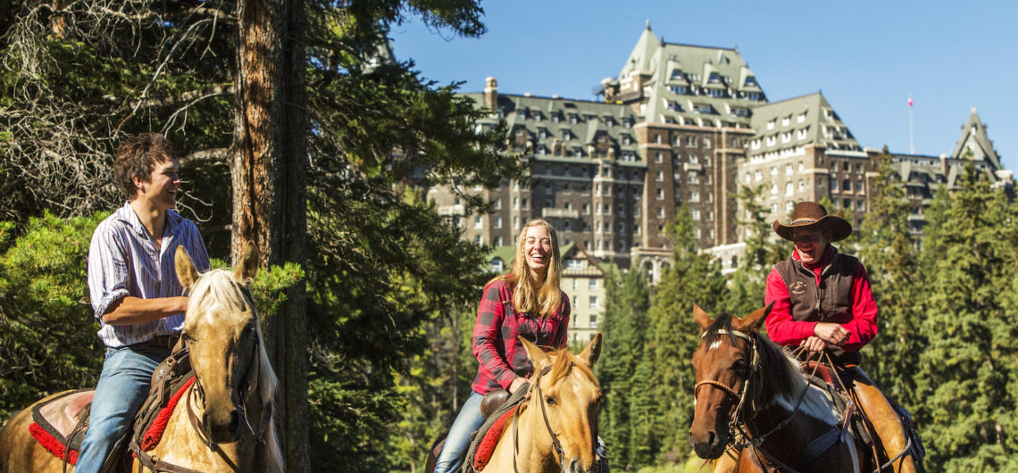 Horseback Ride near the Fairmont Banff Springs Hotel with Banff Trail Riders