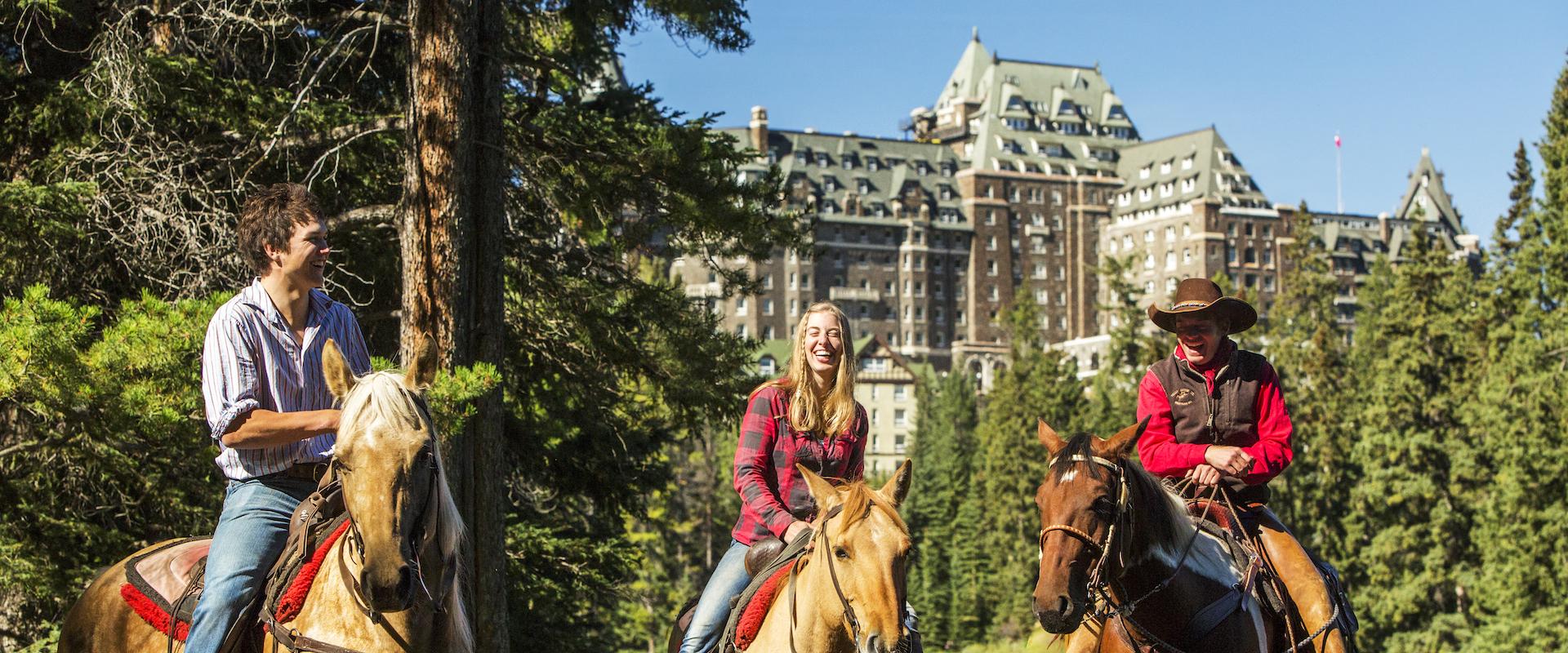 Horseback Ride near the Fairmont Banff Springs Hotel with Banff Trail Riders