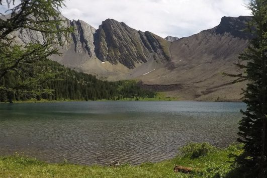 Rainbow Lake on the Cascade Valley Backcountry Tent Trip in Banff, Canadian Rockies