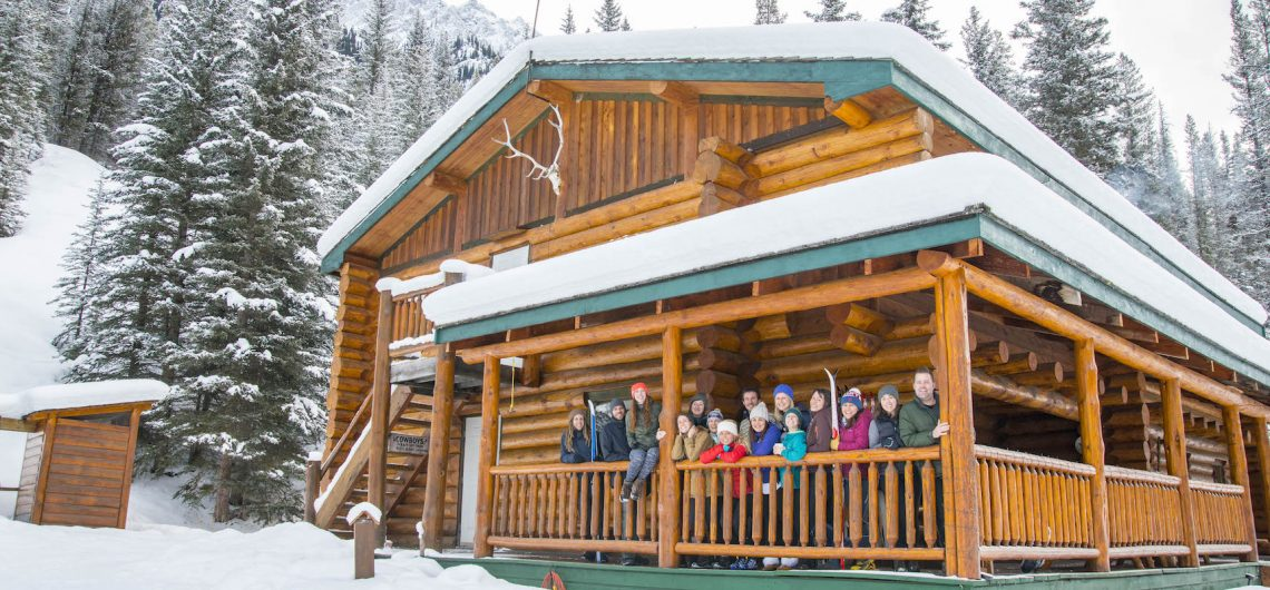 Skiing at Sundance Lodge Backcountry Accommodation in Banff, Canadian Rockies