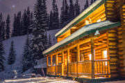 Sundance Backcountry Lodge in Winter in Banff, Canadian Rockies