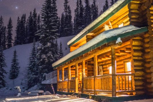 Sundance Backcountry Lodge in Winter in Banff, Canadian Rockies