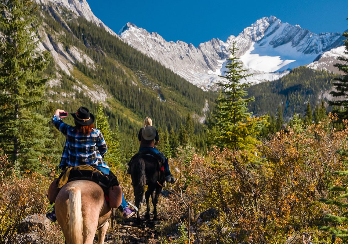 Sundance Explorer Backcountry Lodge Horseback Ride in Banff, Canadian Rockies with Banff Trail Riders