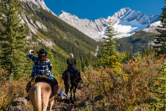 Sundance Explorer Backcountry Lodge Horseback Ride in Banff, Canadian Rockies with Banff Trail Riders