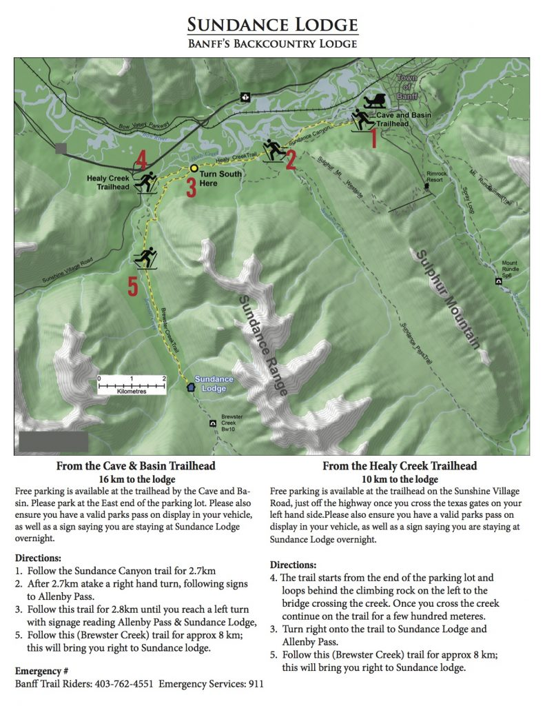 Sundance Lodge Ski Directions