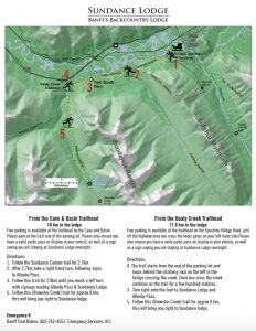Sundance Lodge Trail Map and Directions