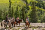 Take a day ride from Stoney Creek Campsite on a backcountry tent trip