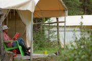 There's time to relax at your tent and read a book