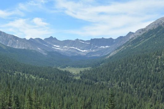 View from Day Ride on the Cascade Valley Backcountry Tent Trip in Banff, Canadian Rockies