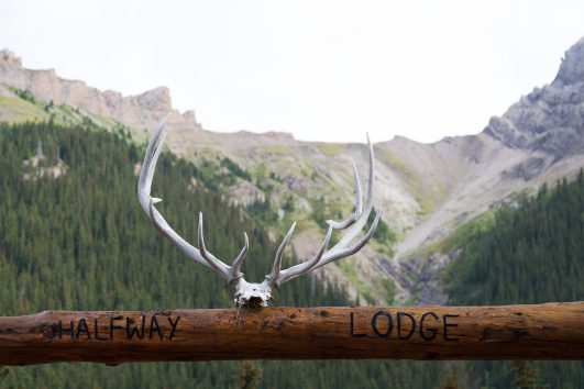 Halfway Backcountry Lodge Entrance in Banff, Canadian Rockies