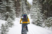 Winter Biking in Banff, Canadian Rockies