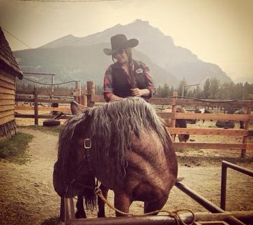 Alyson Back of Horse Foreman with Banff Trail Riders