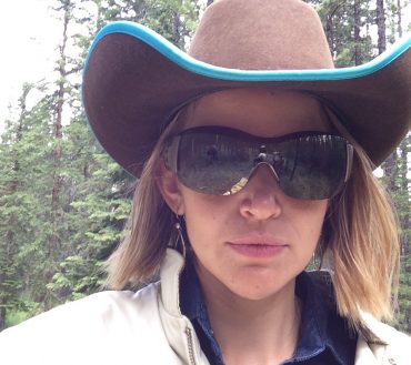 Jolene Host with Banff Trail Riders
