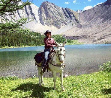 Katie I Backcountry Guide and Sleigh Driver with Banff Trail Riders